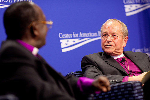 The Right Rev. V. Gene Robinson (right). Photo courtesy Center for American Progress, via Flickr, licensed under Creative Commons.